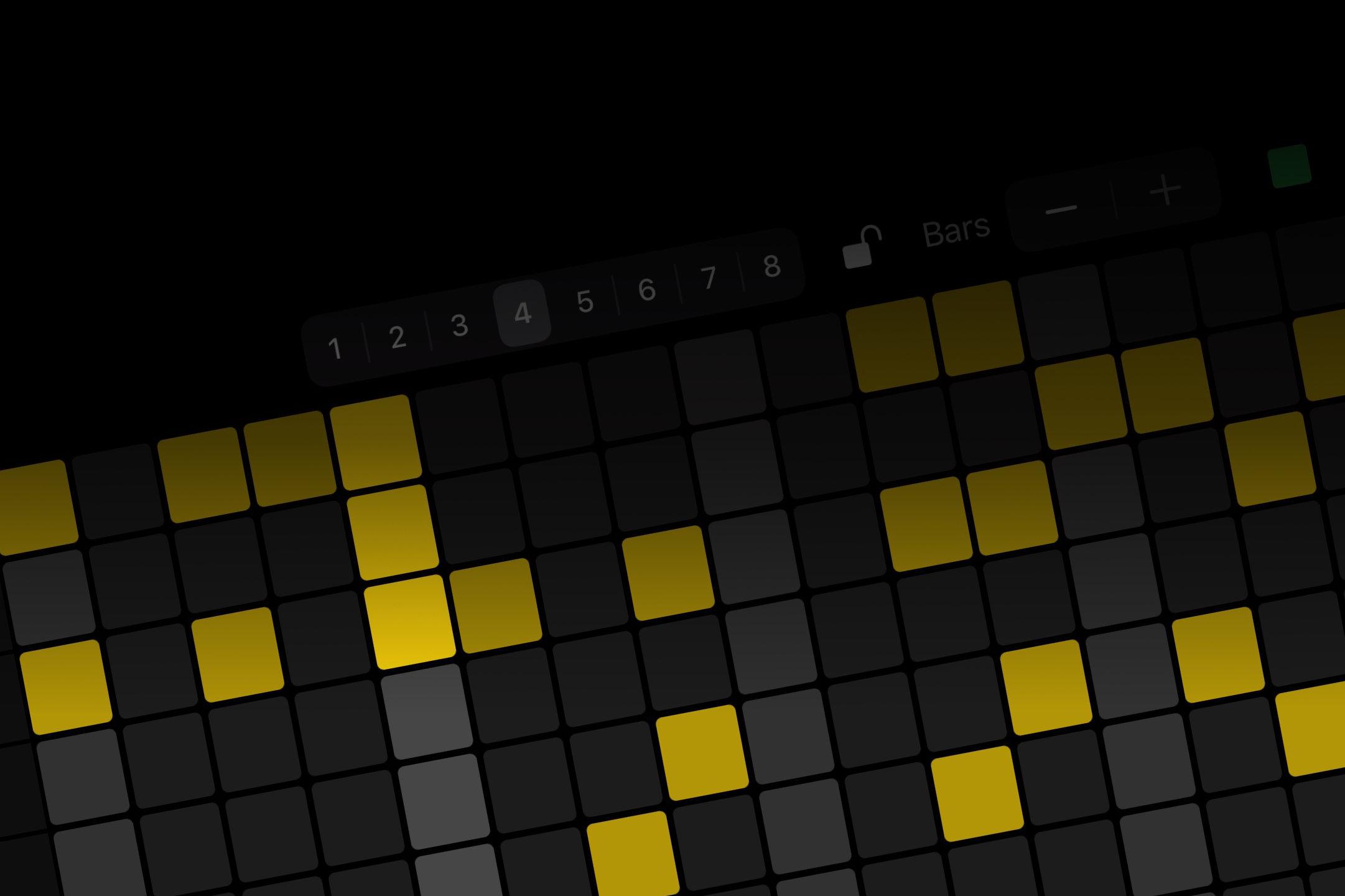 Rhythm Pad app on the iPad